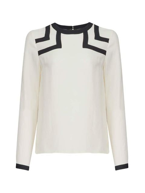 "<p>For graphic summer workwear, try crisp monochrome.</p>  <p><a href=""http://www.atterleyroad.com/cream-colour-block-panel-blouse.html"" target=""_blank"">Atterley Road</a> top, £48</p>"