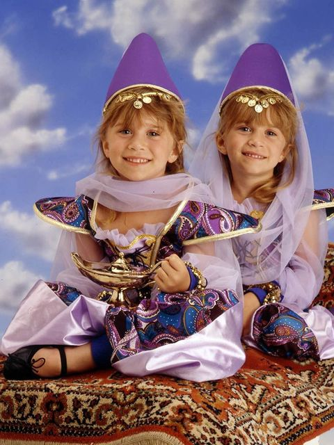 Mary-Kate and Ashley Olsen during the 90s