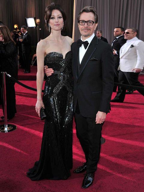 <p>Alexandra Edenborough and Gary Oldman</p>
