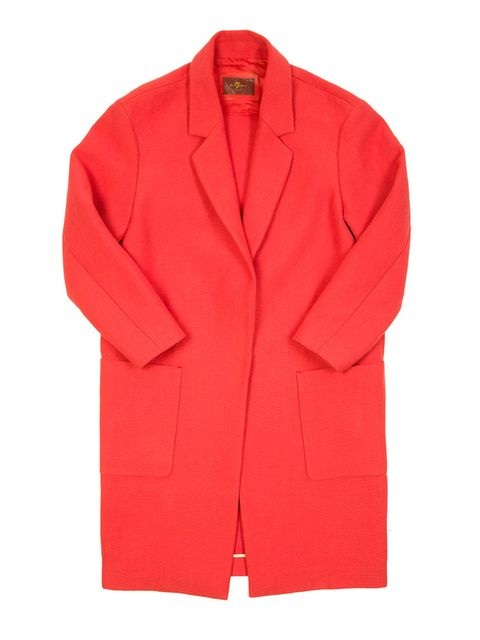 "<p><a href=""http://www.7forallmankind.co.uk/en_en/women/more-than-denim/jackets-sweaters/coat-red.html"" target=""_blank"">7 For All Mankind coat</a>, £400</p>"