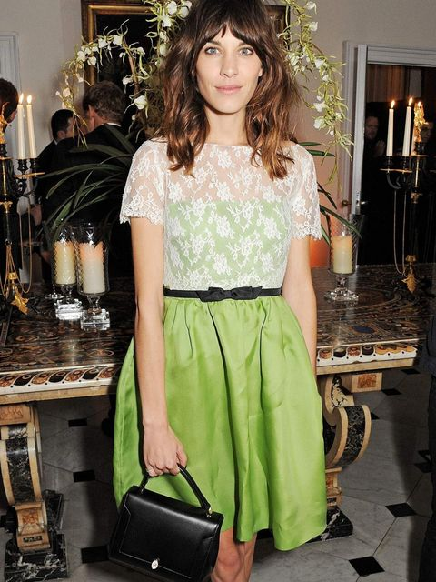 <p>Alexa Chung attends the Valentino exhibition opening dinner in London, November 2012.</p>