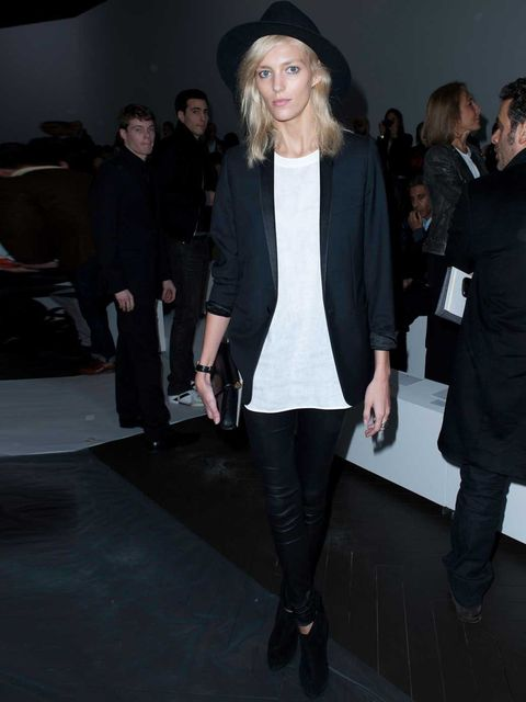 <p>Anja Rubik at the Dior Homme Menswear Autumn/Winter 2013 show during Paris Fashion Week, January 2012.</p>