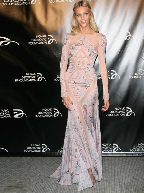 <p>Anja Rubik in Emilio Pucci attends The Novak Djokovic Foundation's dinner, New York, September 2012.</p>