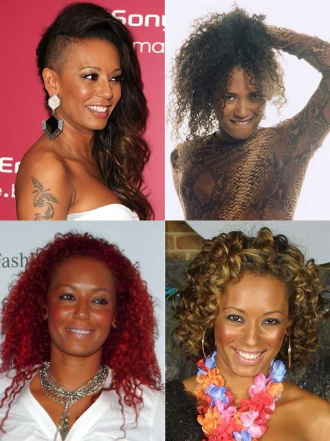 <p>It's fair to say that Mel B has sported many hairstyles that have certainly lived up to her Scary Spice name. From horn-like buns to a super-close shaved undercut, her hair has been put through the works over the years. </p><p>We're not sure matching h