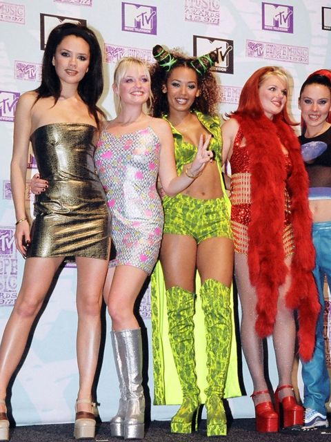 <p>The Spice Girls at the MTV Europe Music Awards, 1997</p>