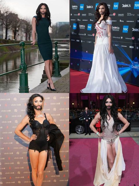 """<p>How amazing is Conchita Wurst? The bearded drag queen won Eurovision this weekend and deftly fought back against intolerance too. We take a look at her wardrobe highlights...</p><p><a href=""""http://www.elleuk.com/style/occasions/festival-bands-to-watch-"""