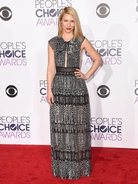 <p>Clane Danes attends the People's Choice Awards in LA, January 2016</p>