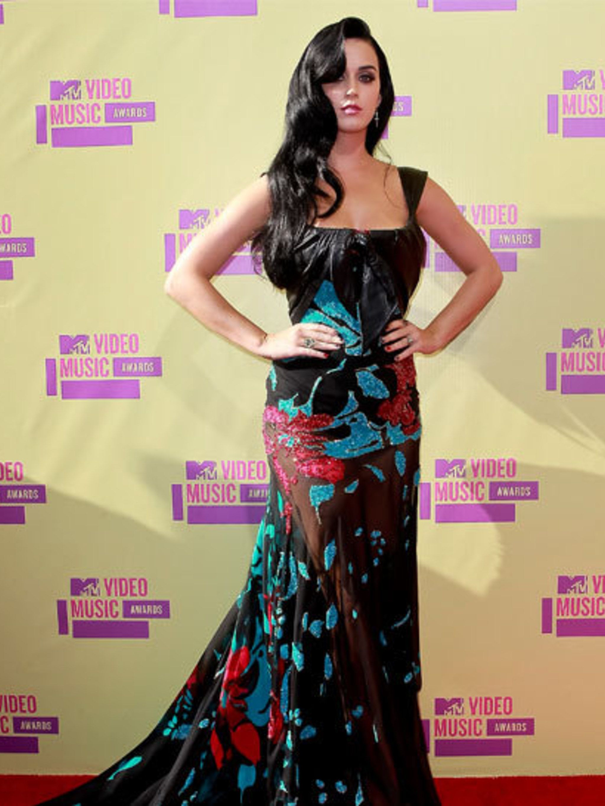 """<p><a href=""""http://www.elleuk.com/star-style/celebrity-style-files/katy-perry"""">Katy Perry</a> in <a href=""""http://www.elleuk.com/catwalk/designer-a-z/elie-saab/autumn-winter-2012"""">Elie Saab</a> at the MTV VMA Awards Los Angeles</p>"""