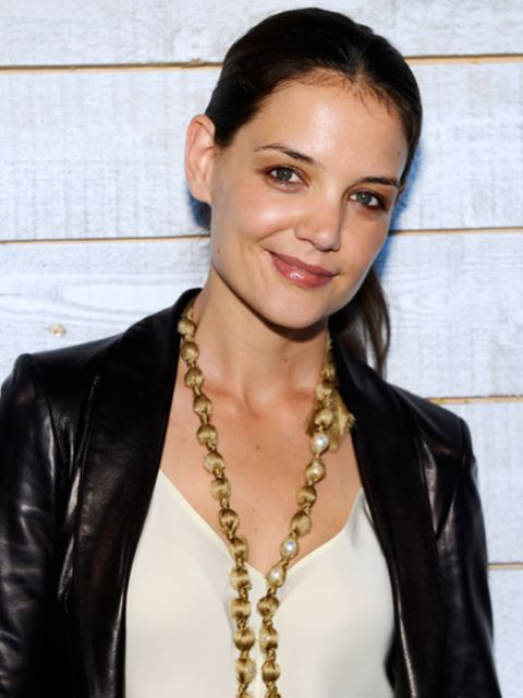 <p>Katie Holmes at her New York fashion week debut</p>
