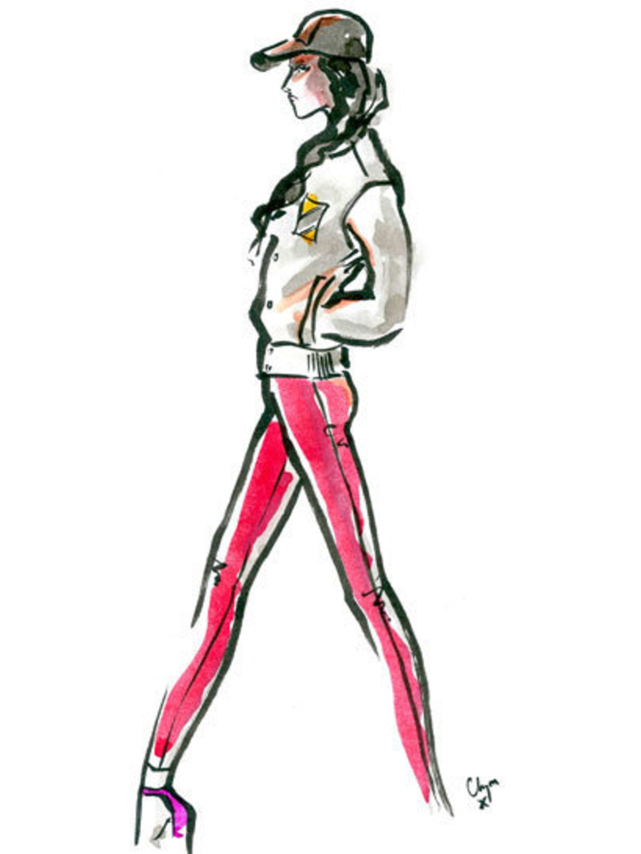 <p>A Zoe Jordan spring 2013 look illustrated by Clym Evernden</p>