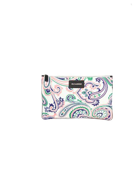 "<p>Jil Sander paisley print clutch, £179.21, at Saks</p><p><a href=""http://shopping.elleuk.com/browse?fts=jil+sander+envelope+pouch"">BUY NOW</a></p>"