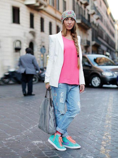 """<p>Barbara Di Giuseppi, 26, Pharmacist<a href=""""http://www.zara.com/webapp/wcs/stores/servlet/home/uk/en"""">Zara</a> jacket, top and jeans <a href=""""http://store.nike.com/gb/en_gb/"""">Nike</a> shoes.</p><p><em>More streetstyle inspiration: </em></p><p><a href="""""""