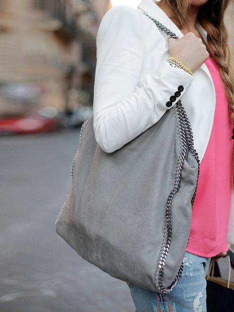 "<p><a href=""http://www.stellamccartney.com/"">Stella McCartney</a> bag.</p><p><em>More streetstyle inspiration: </em></p><p><a href=""http://www.elleuk.com/style/street-style/milan-fashion-week-2013"">Milan Fashion Week street style</a></p><p><a href=""http:/"