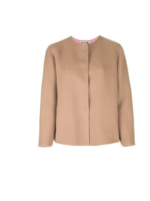 "<p>Jil Sander Jacket at <a href=""http://www.farfetch.com/shopping/women/jil-sander-round-neck-jacket-item-10263723.aspx"">Farfecth.com</a>, £832</p>"