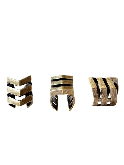 "<p>Hot new label alert! LA jewellery brand Tom Tom has just landed on UK shores, and we've instantly fallen for its geometric rings… Tom Tom chevron ring, £75, at <a href=""http://www.nylaboutique.com/item.aspx?product_id=10139"">Nyla Boutique </a></p>"