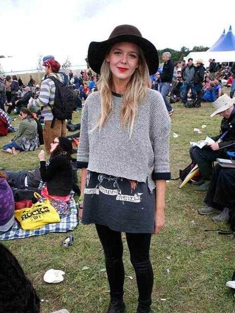 <p>Photo by Lisa Rahman.Sarah Waldock, 26.Topshop jumper and leggings, vintage t-shirt and hat, Oasis boots.</p>