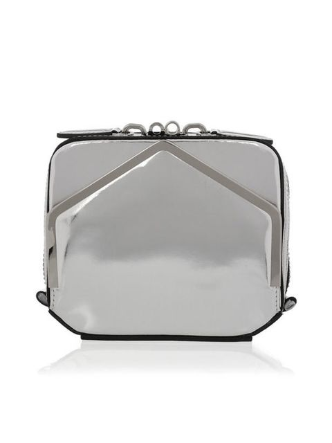 <p>Alexander Wang 'Adriel' metallic leather clutch, £400, at Net-a-Porter</p>