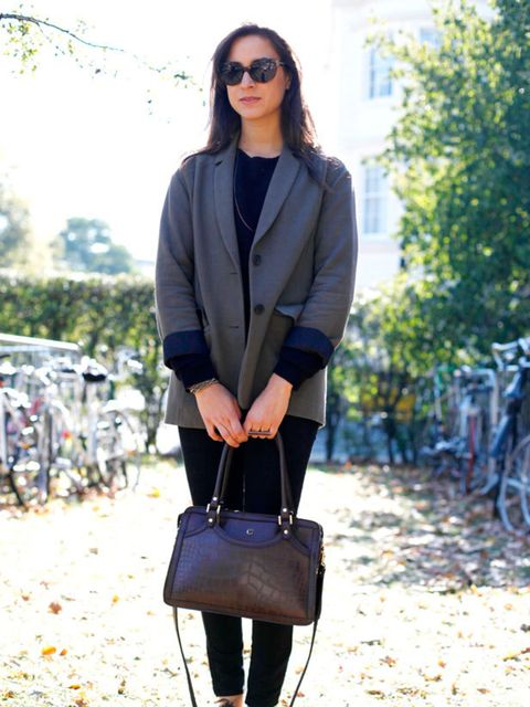 <p>Photo by Silvia Olsen @ Anthea SimmsEmilia Loukas, 23, PR. Jacket from Vancouver, vintage top, bag and shoes, Gap trousers.</p>