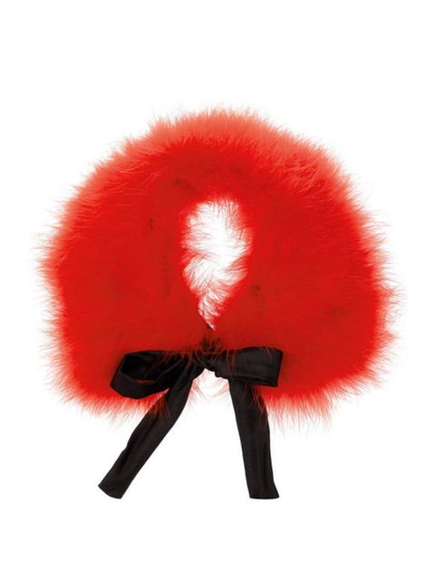 "<p>Miu Miu feather collar, £440, at <a href=""http://www.net-a-porter.com/product/167937"">Net-a-Porter</a></p>"
