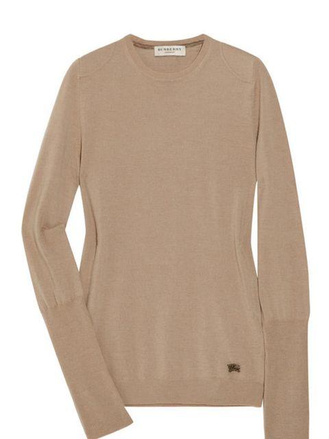 "<p>Burberry London classic sweater, £295, at <a href=""http://www.net-a-porter.com/product/160197"">Net-a-Porter</a></p>"