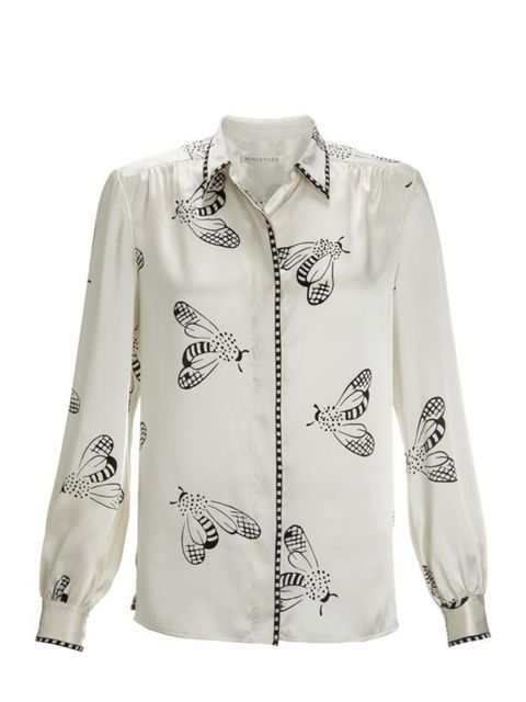 <p>Whistles bee print blouse, £125, for stockists call 0845 899 1222</p>