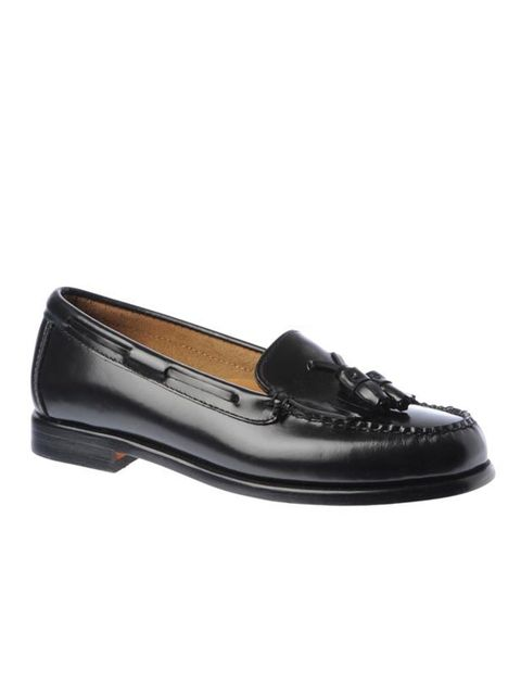 <p>No, your eyes are not deceiving you, chic French label Maje really has teamed up with classic penny loafer brand GH Bass. A timeless trend, if they're good enough for James Dean and MJ, they're good enough for us… GH Bass for Maje penny loafers, £175,