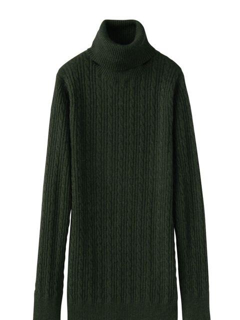 "<p><a href=""http://shop.uniqlo.com/uk/list/basic/women/tops/reknitwear"">Uniqlo</a> cashmere roll neck jumper, £29.90</p>"