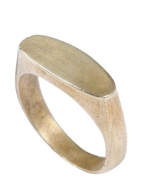 <p>Add a touch of low-key luxe to any outfit with this simplistic, boyish ring… Mirabelle gold ring, £45, for stockists call 0207 607 7732</p>