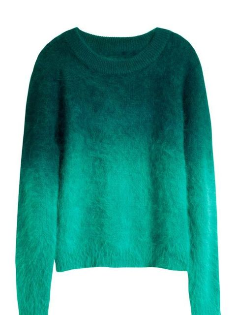 <p>Every wardrobe needs a great statement knit, so head to H&M for this week's bold offering... H&M green jumper, £24.99, for stockists call 0207 323 2211</p>