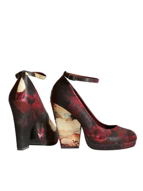 <p>Make a style statement while doing your bit for sustainability in these Dries Van Noten-inspired floral shoes from H&M's latest organic collection… H&M floral shoes, £34.99, for stockists call 0844 736 9000</p>