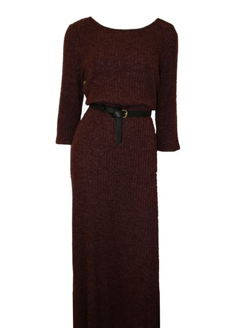 "<p>Minkpink burgundy knit dress, £85, at <a href=""http://www.urbanoutfitters.co.uk/"">Urban Outfitters </a></p>"