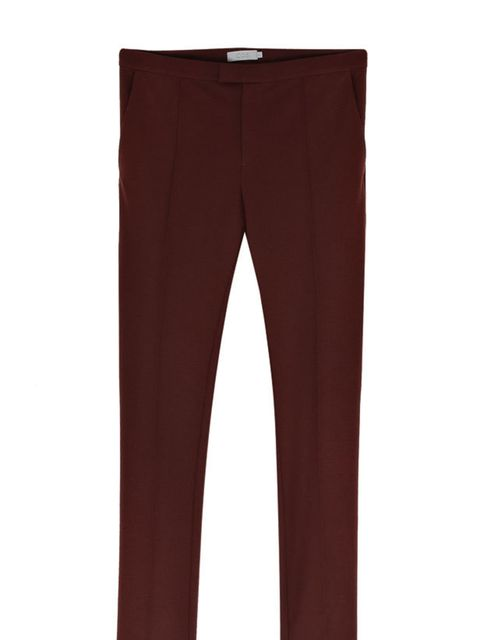 <p>Cos burgundy trousers, £59, for stockists call 0207 478 0400</p>