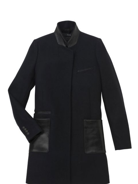 <p>The Kooples leather trim wool coat, £430, for stockists call 0207 631 1096</p>
