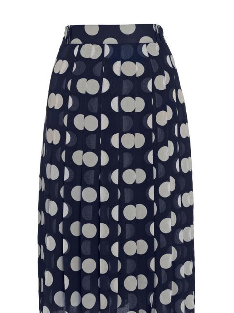 """<p><a href=""""http://www.whistles.co.uk/fcp/categorylist/dept/shop?resetFilters=true"""">Whistles</a> polka dot skirt, £110</p>"""