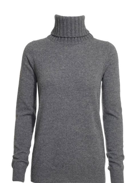 "<p><a href=""http://www.reissonline.com/shop/womens/knitwear/georgie/charcoal/"">Reiss</a> grey rool neck jumper, £110</p>"