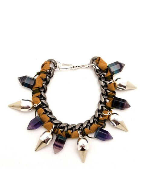 <p>Assad Mounser 'Lady Jane' spiked bracelet, £235, at Net-a-Porter</p>