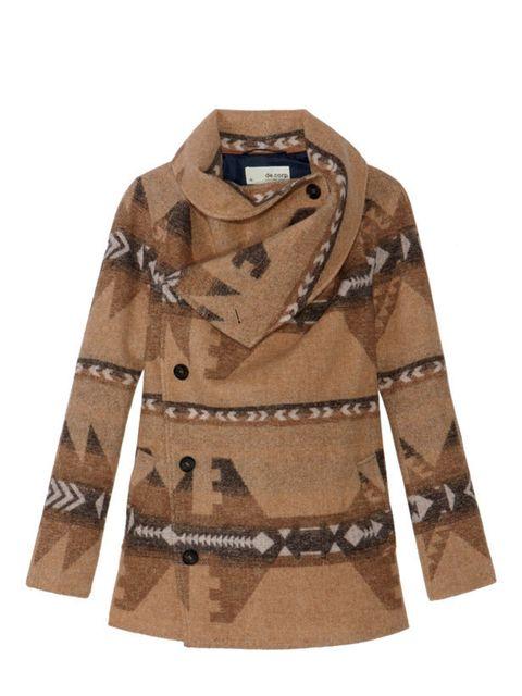 """<p><a href=""""http://www.esprit.co.uk/?LKZ=GB"""">Esprit</a> navajo coat, £150</p>"""