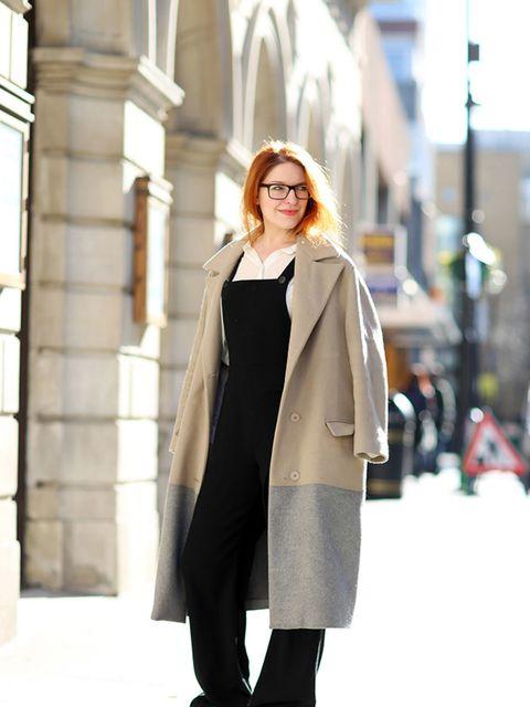 <p>Natasha Pearlman - Deputy Editor</p>  <p>Richard Nicoll coat, Cos shirt, Prada glasses, L'f shoes</p>