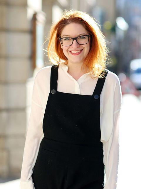 <p>Natasha Pearlman - Deputy Editor</p>  <p>Prada glasses, Cos shirt</p>