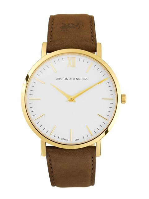 """<p>We love the retro feel of this androgynous watch.</p><p><a href=""""https://www.larssonandjennings.com/shop/lader/brown/"""">Larsson & Jennings</a> watch, £205</p>"""