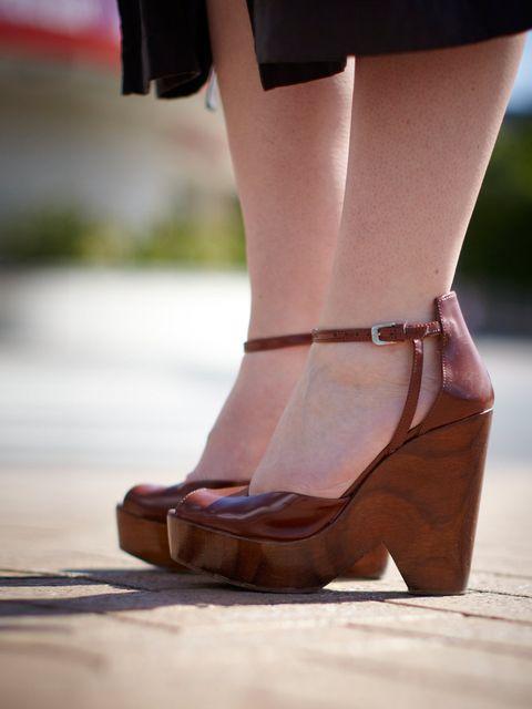 <p>Melissa McKenna wearing Zara shoes</p>