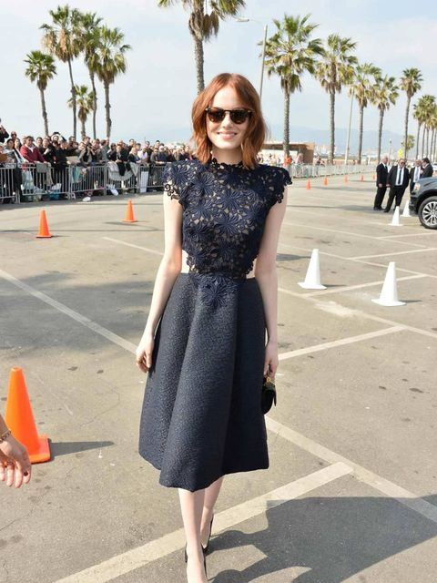 Emma Stone at the 2015 Film Independent Spirit Awards in California, february 2015.