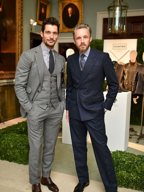 David Gandy and Alasdhair Willis at the LC:M s/s16 Duke of Wellington party, June 2015