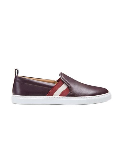 "<p>A grown-up take on retro sportswear; trainers for women who don't do trainers. </p>  <p><a href=""http://www.bally.co.uk/en_gb/shop-woman/shoes/henrika-women%C2%B4s-leather-slip-on-trainer-in-cherry--6196031.html?cgid=woman-shoes&srule=Product%20name%20"