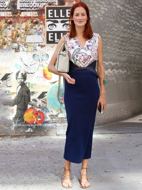 "<p>Taylor Tomasi Hill wearing a <a href=""http://www.elleuk.com/catwalk/designer-a-z/jil-sander/autumn-winter-2012"">Jil Sander</a> dress with <a href=""http://www.elleuk.com/catwalk/designer-a-z/givenchy/autumn-winter-2012"">Givenchy</a> bag during New York"