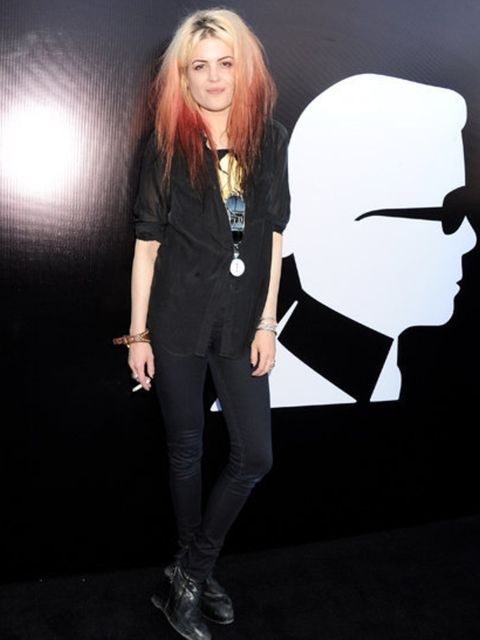 <p>Alison Mosshart DJd at the launch party on Selfridges' roof</p>