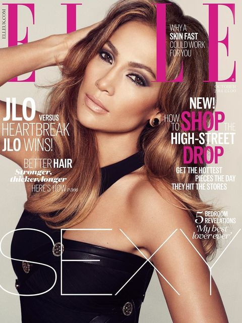 """<p>Jennifer Lopez on the cover of <a href=""""http://www.hearstmagazines.co.uk/elle/VES10350"""" target=""""_blank"""">ELLE's October issue</a></p>"""