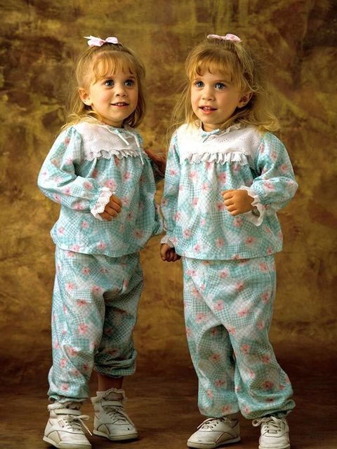 Mary-Kate and Ashley in Full House during the late 80s