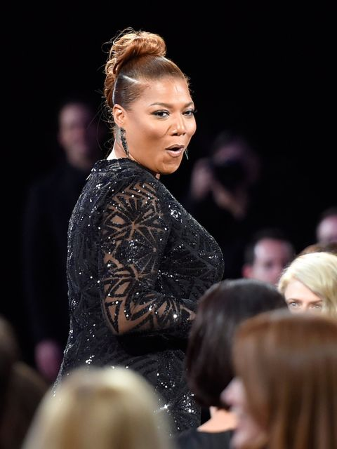 Queen Latifah just after hearing she'd won Best Actress In A Limited Series.