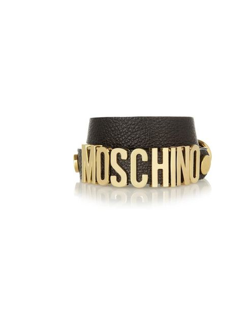 "<p>Love slogan tees? Then why not try slogan jewellery...</p><p>Moschino bracelet, £120 at <a href=""http://www.net-a-porter.com/product/410520"">Net-A-Porter.com</a></p>"